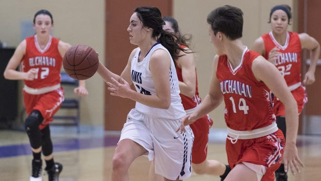 Mission Oak's Rhegan Fernandes is the 2017 Times-Delta/Advance-Register All-Tulare County Girls Basketball Player of the Year.