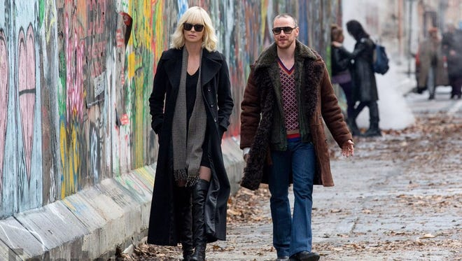 "Charlize Theron and James McAvoy star in ""Atomic Blonde."""
