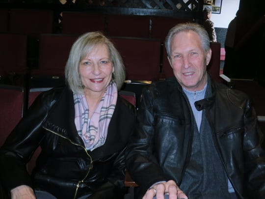 "Deborah Shelton and Kevin Abraham, both of Redding, attend the comedy play ""The Game's Afoot: Holmes for the Holidays"" on Jan. 22 at the Riverfront Playhouse in Redding."