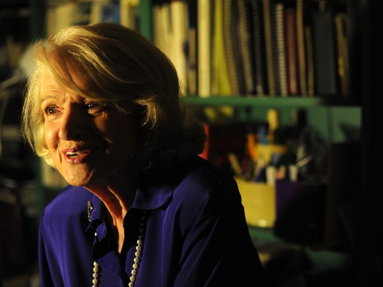 """Edith Windsor, the 83-year-old widow of Thea Spyer, is seen in her home in Manhattan, N.Y., on November 12, 2012.  The """"born/chosen"""" debate was invoked in amicus curiae briefs filed to the Supreme Court in the 2013 United States v. Windsor case on same-sex marriage, but the final decision ultimately did not take up the question of immutability (whether sexual orientation is fixed)."""