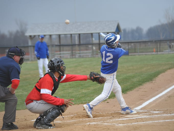 Crestline vs. Delaware Christian baseball on April