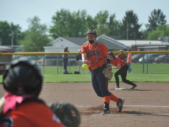 Galion's Madelyn Thomas struck out nine batters in
