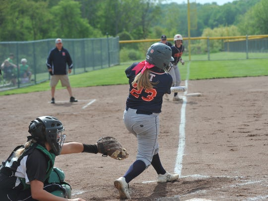 Emily Sedmak drives in a run against Clear Fork in