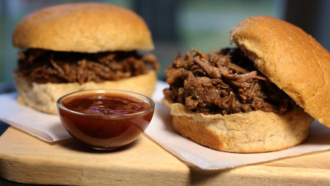 Take steps to avoid food-borne illness and then make Barbecued Shredded Beef on a Bun.