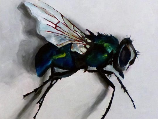 Artist Krysti Spence will have paintings like this fly on display in the Farmington Hills City Gallery.