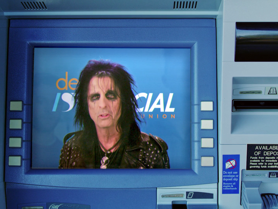 Alice Cooper as he appears in the Super Bowl ad for