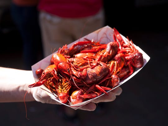 It just wouldn't be a proper Cajun Fest without crawfish.