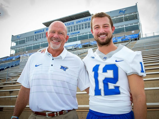 Coach Rick Stockstill and his son, quarterback Brent, begin their final season together on Saturday at Vanderbilt.