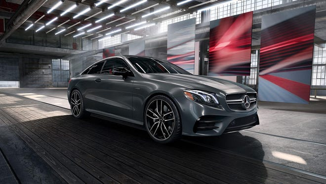 The engine in the 2020 Mercedes-Benz AMG E 53 is a 3.0-liter in-line six-cylinder, turbocharged with 429 horsepower and 384 pounds feet of torque.