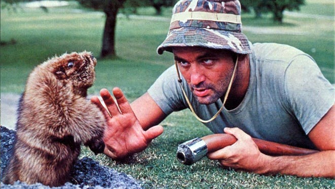 """Bil Murray's character confronts the gopher in """"Caddyshack."""""""