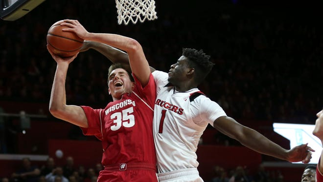 In seven Big Ten games, freshman Nate Reuvers is averaging 7.4 points, 2.1 rebounds and 1.6 blocks per game.
