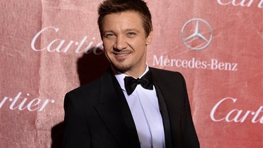 In this file photo, Jeremy Renner arrives at the Palm Springs International Film Festival Awards Gala at the Palm Springs Convention Center in Palm Springs, Calif. Model Sonni Pacheco has filed for divorce from actor husband Renner after 10 months of marriage, according to court documents filed in Los Angeles on Dec. 5. The petition cites irreconcilable differences as the reason for the separation.