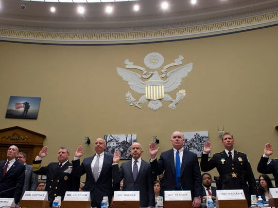 Witnesses are sworn-in on Capitol Hill in Washington,