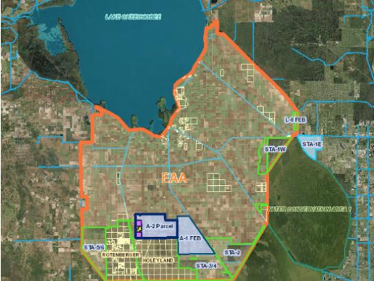 Screenshot of SFWMD's Lake Okeechobee reservoir project