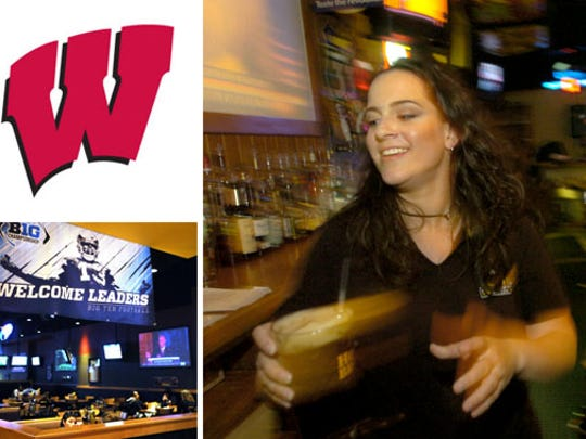 Wisconsin fans are heading to Buffalo Wild Wings Grill & Bar, 7 E. Washington Street.