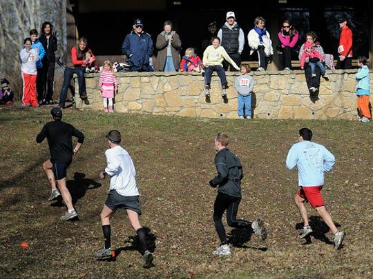 The annual Holliday Park Trail Run