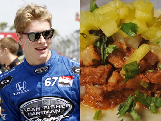 Josef Newgarden chose Bakersfield (pictured) and BRU Burger on Mass Ave.