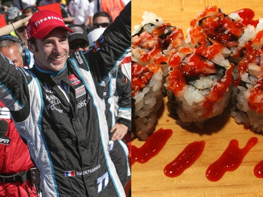 Simon Pagenaud chose Tegry, a sushi place at Traders Point.