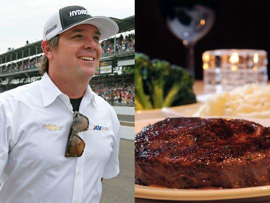 Team owner Jimmy Vasser opted for Ruth's Chris Steakhouse