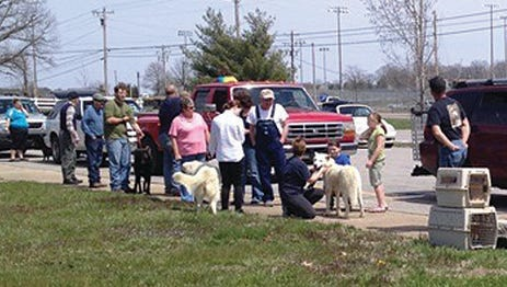 Local residents take advantage of the Spring Rabies Clinic offered at 25 locations around the county.