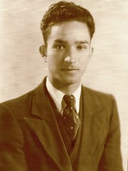 """Fred Frietz Oliver, shown here in a 1936 photo, was a talented artisan who designed and built the family's Las Cruces home. """"This version of my play explores my parents' relationship: how this strong woman and this gentle and strong man were together for 69 years and how we don't have those relationships anymore,""""  Irene Oliver-Lewis said."""