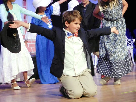 In the role of Mayor Shinn, Campbell Ruff ends his favorite dance number with a flourish