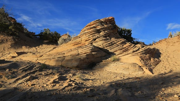 Fascinating sandstone formations can be seen along