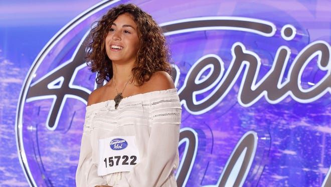 """Gianna Isabella performs in front of the Judges on """"American Idol."""""""