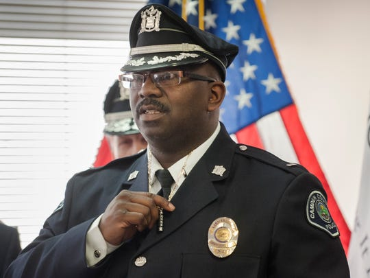 Camden County Pollice Lt. Zsakhiem James, who was the