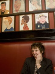 """Delaware native John Gallagher Jr. at New York's Sardis restaurant in 2010 following a performance of """"American Idiot"""" at the St. James Theatre."""