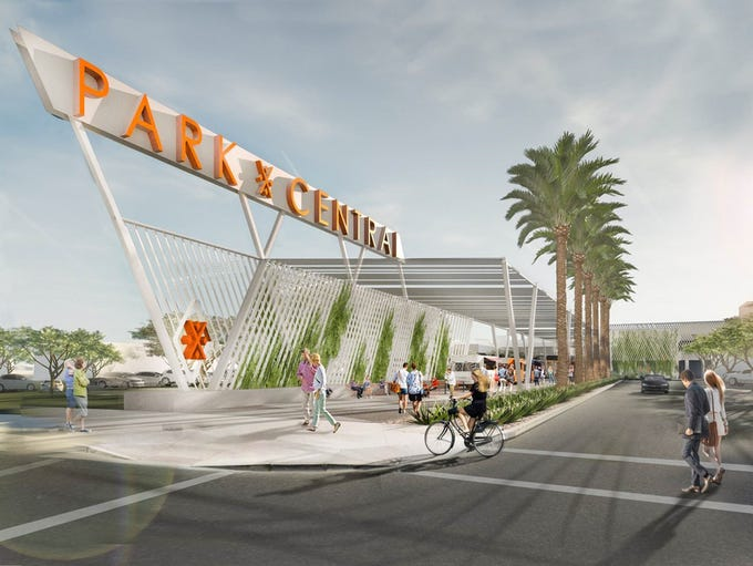 An artist's rendering of what the outside of Park Central