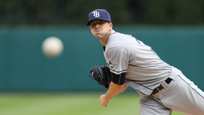 Left-hander Drew Smyly, shown pitching for Tampa Bay last season, has a career record of 31-27 with a 3.74 ERA and averages 8.7 strikeouts per nine innings.