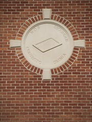 Stone panels embedded in brick walls at the newly built Moorestown Library contained an inaccurate Latin phrase.
