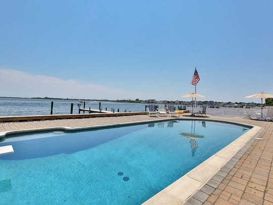 Lounge around the pool that overlooks the Barnegat