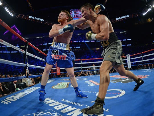 The bout between Canelo Alvarez (left) and Gennady