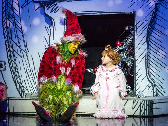 The cast of Dr, Seuss' How the Grinch Stole Christmas! the Musical