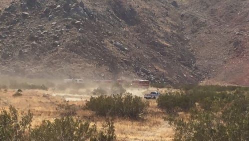 CalFire battled a 25-acre wildfire Friday.