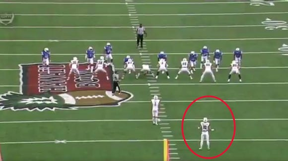 Hawaii ran a crazy fake punt play in a Hawaii Bowl win over Middle Tennessee.