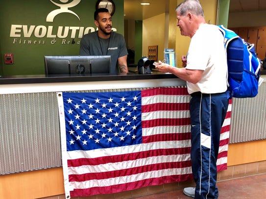 Derrick Austin, an Evolutions member services employee,
