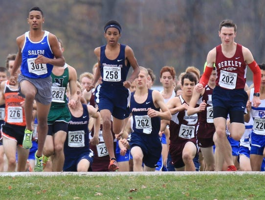 Leading an impressive pack during Saturday's Division
