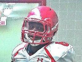 Leon running back Sam Thomas suits up prior to the spring game.