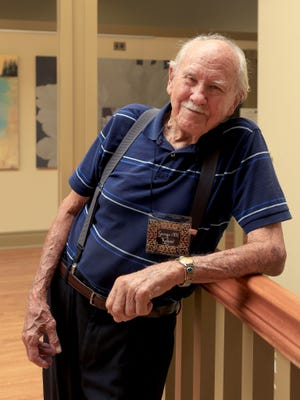 George Kehew, 93, still paints and works three days a month at the Arrowhead Gallery at the Electric Theater Center in St. George.