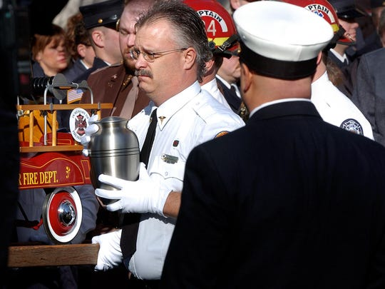 The ashes of Mercy Flight paramedic and Great Falls