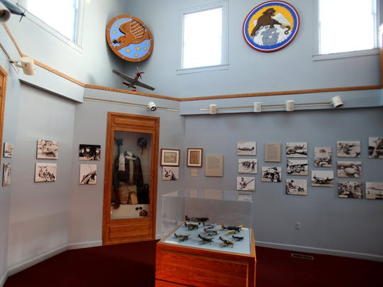 One of the exhibit rooms at the Tuskegee Airmen Museum