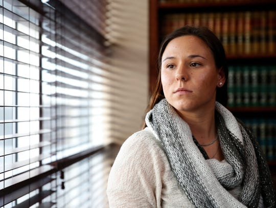 Sgt. Kaylie Coats spoke out Wednesday, Dec. 27, 2017, about her wrongful arrest on Dec. 7, 2017, when she was taken to jail for a crime she didn't commit.