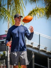 Kurt Benkert, a former Cape Coral resident and an Island Coast High School graduate, is poised to become the first former Lee County high school football player to be an NFL quarterback. The former East Carolina and Virginia standout is projected to be a third or fourth round draft pick. The NFL Draft begins April 25.