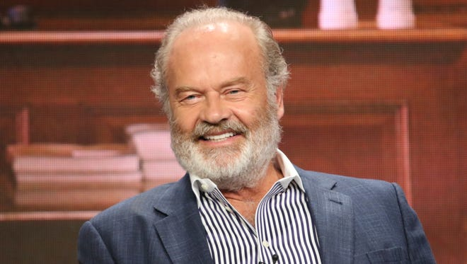 "Kelsey Grammer shows his support for his new show, ""Proven Innocent,"" on Fox."