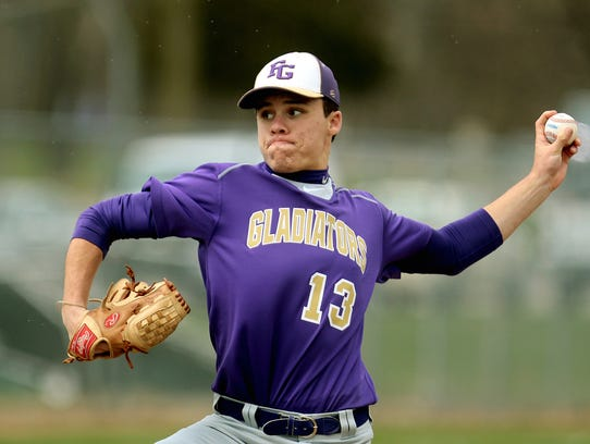 Fowlerville's Eric Fritz pitched a two-hitter in an