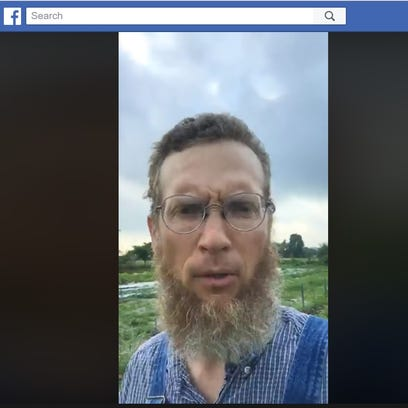 A screenshot of the video Curtis Millsap made Thursday