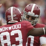 AJ McCarron and Kevin Norwood will be signing autographs today from 5:30 to 7:30 p.m. at Tuscaloosa University Mall.